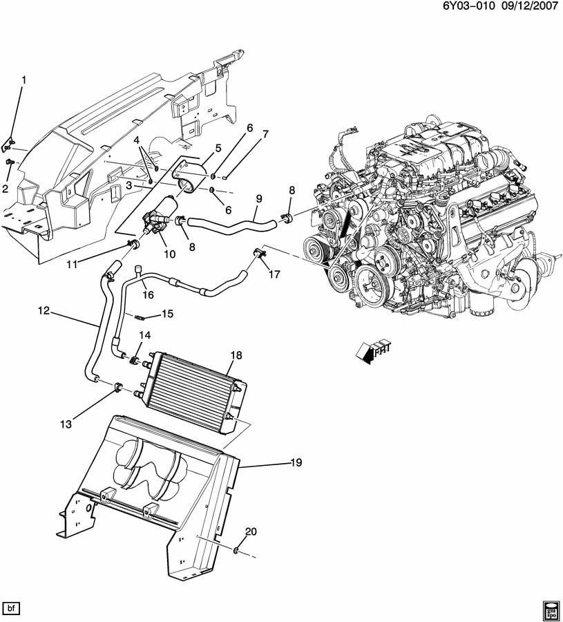 cadillac xlr xlr v supercharger hose pump hose radiator to cooling rh factoryoemparts com Cadillac XLR Aftermarket Parts Cadillac XLR Parts List