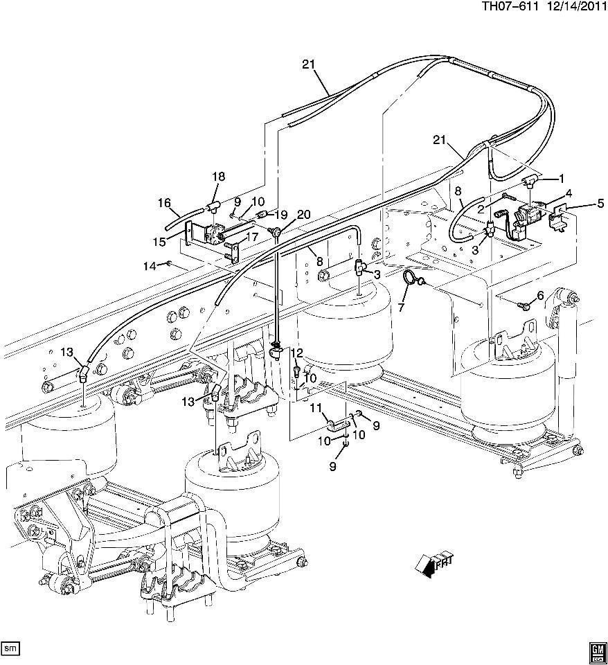 2008 09 Topkick Kodiak C8500 Rear Air Suspension Leveling