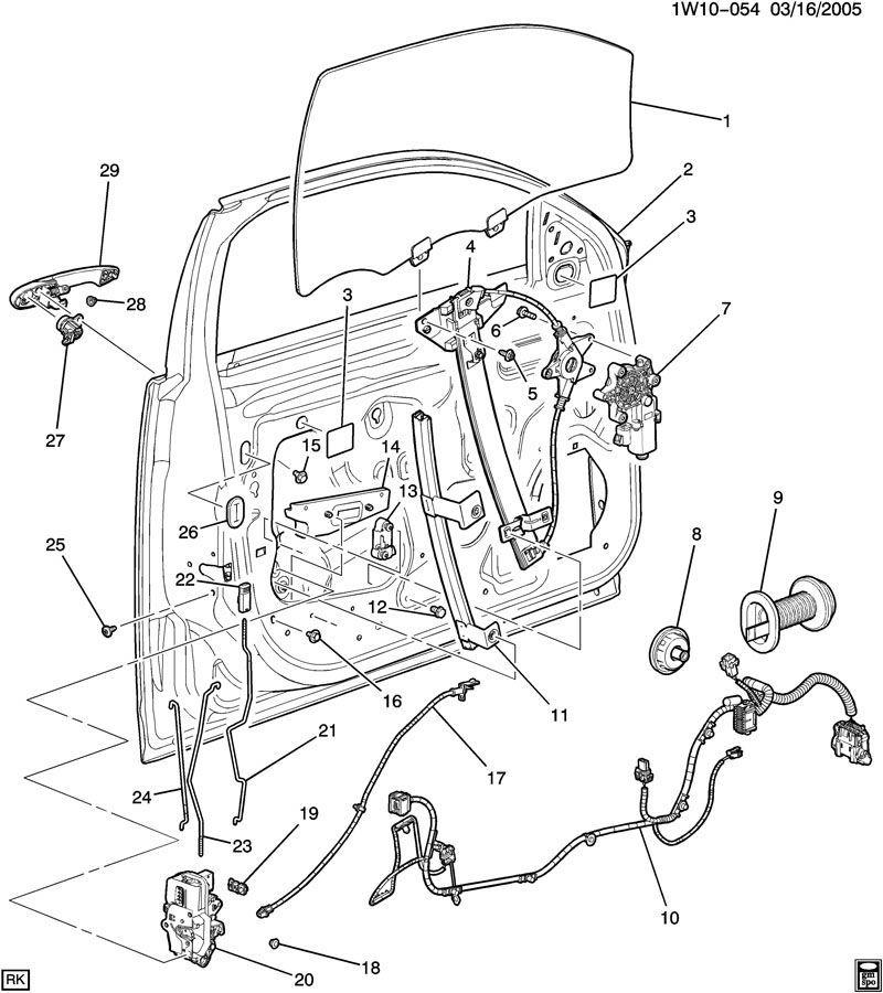 Chevy Impala Front Lh Door Lock Rod New Oem Ebony on 2012 Chevy Impala Trunk Parts Diagram
