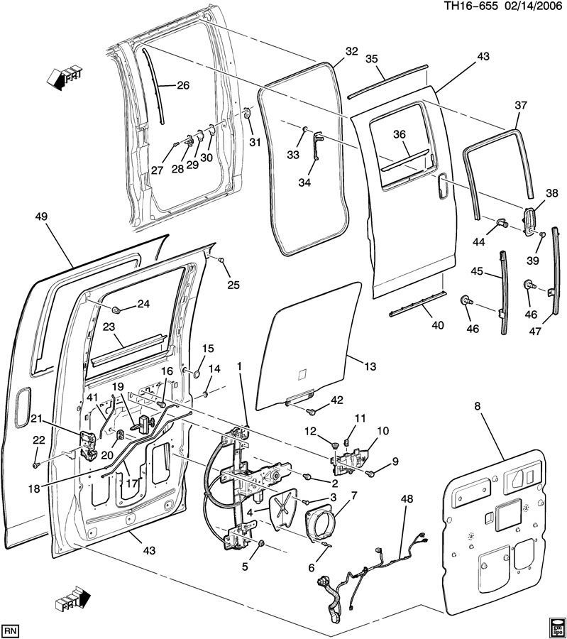 2003 2009 Topkick Kodiak C4500 C8500 Rear Lh Door Latch Power Rh Factoryoemparts 2004 GMC Envoy Engine Diagram 2005 Parts: GMC Envoy Mk2 2003 Engine Diagram At Kopipes.co