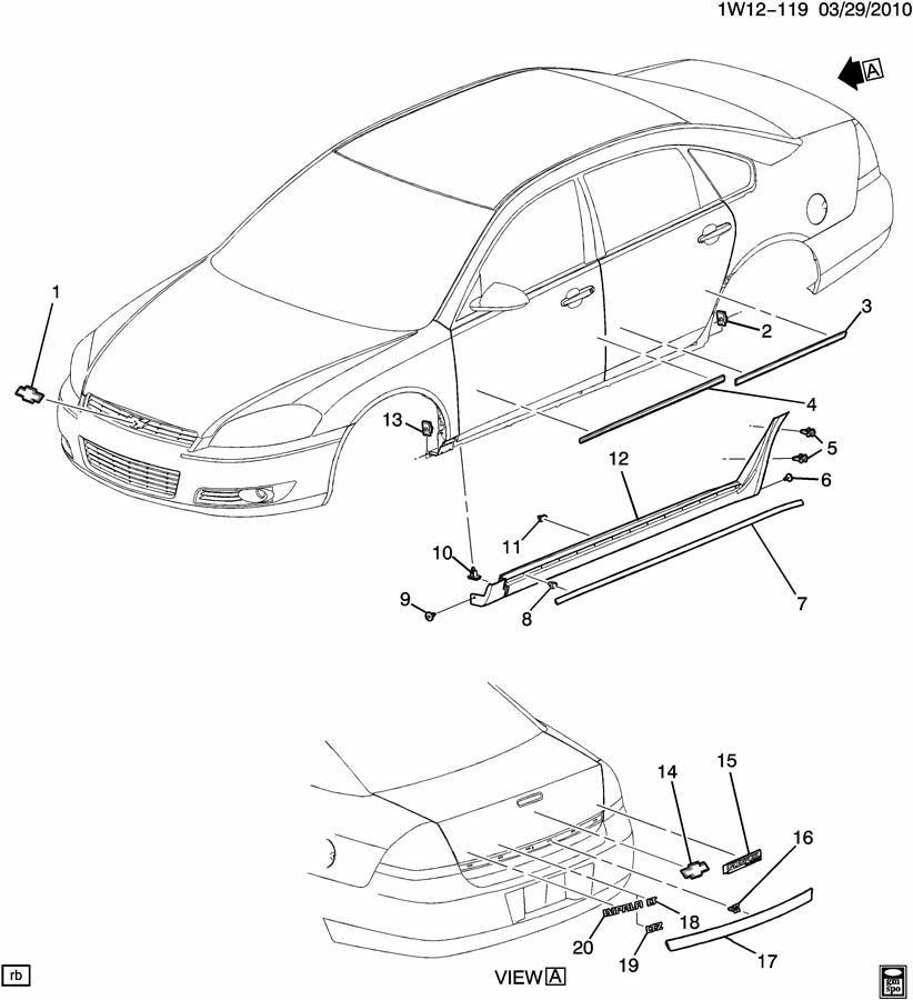 2006 2014 chevy impala rear trunk trim applique black new. Black Bedroom Furniture Sets. Home Design Ideas