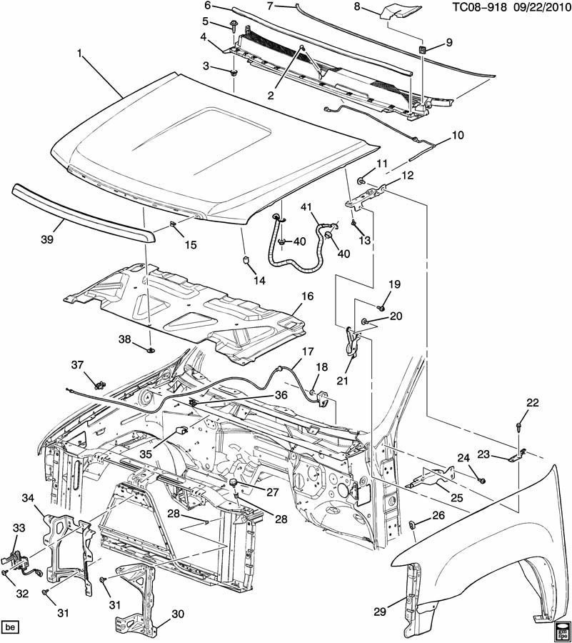 Chevrolet Avalanche Frame Diagram