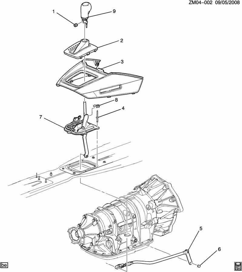 2007   10    Saturn       SKY    Auto Trans Shift Knob Black Leather WBlue Stitch 20778934   Factory OEM Parts