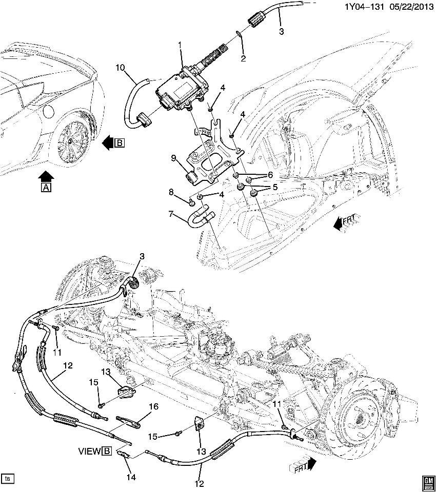 2014 Chevy Corvette Electronic Parking Brake Wire Harness New Oem 22881111 Ebay