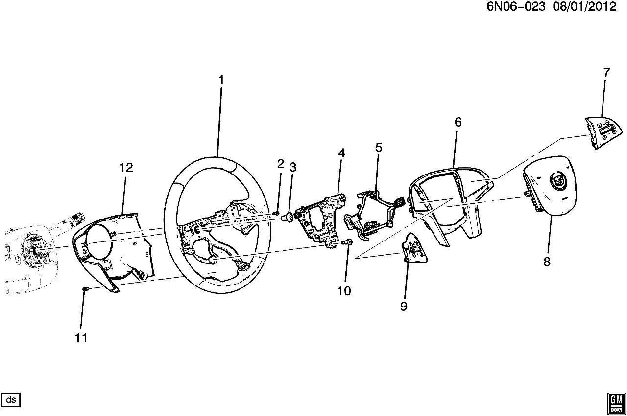2015 cadillac xts steering wheel black leather new w o adaptive rh factoryoemparts com Factory Cadillac Wheels Factory Cadillac Wheels