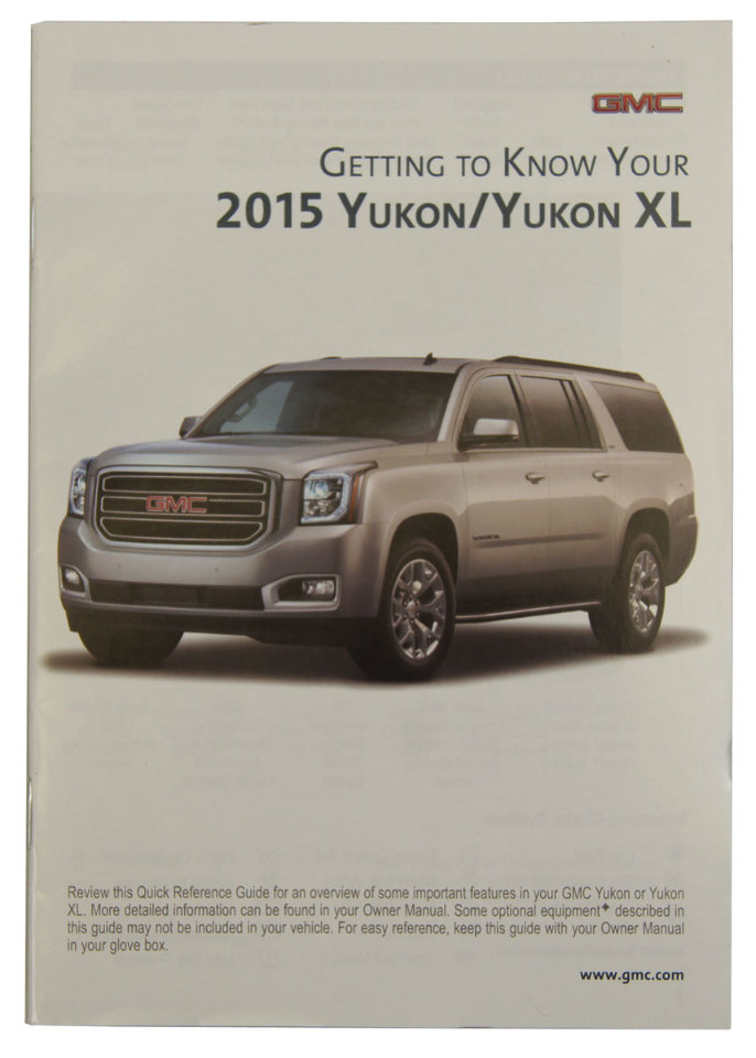 2015 gmc yukon yukon xl us owners manual book w warranty book new rh factoryoemparts com 2005 yukon xl manual 2008 yukon xl manual