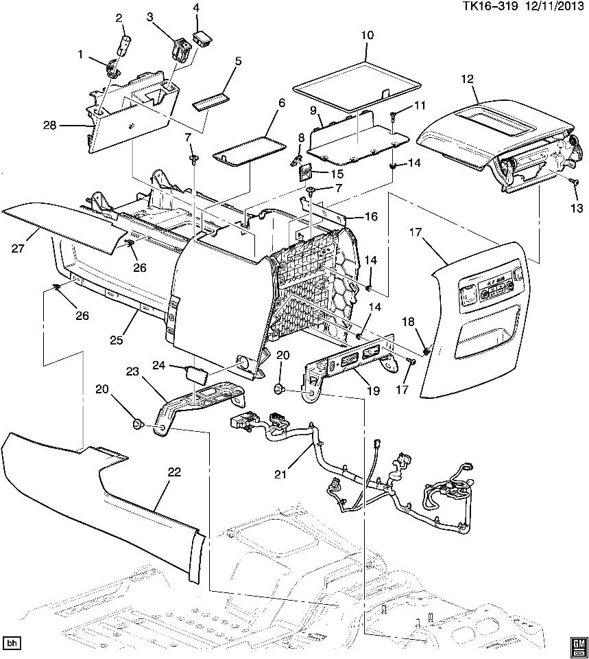 Fan Belt Diagram 2008 Dodge Caliber 2 0 together with 91 Taurus Engine Diagram further 153324 2014 Parts Diagrams Service Manual likewise 98 Ford F 150 Engine Diagram in addition 2015 2016 Gm Suburban Tahoe Yukon Center Console Assy Black 23491344 23491344. on 1999 ford f 150 dash removal diagram