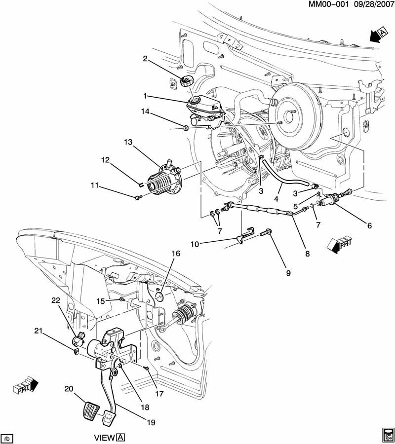 2007   2010    Saturn       Sky    Pontiac Solstice Slave Cylinder Turbo Redline GXP 24234308   Factory OEM Parts