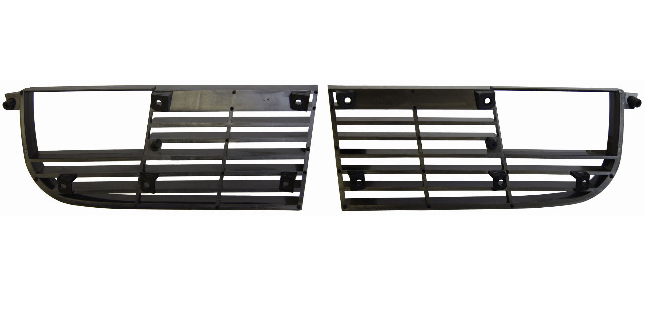 1975 1979 Chevy Corvette C3 Grille Pair Lh Amp Rh Black