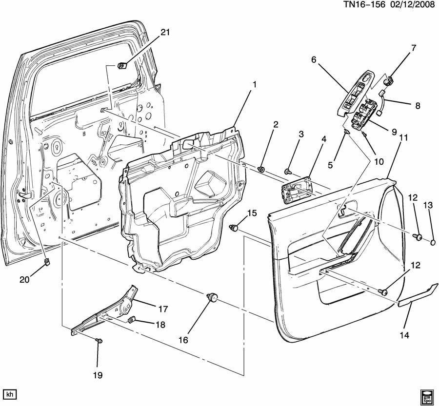 Hummer H3 Rh Front Door Panel Trim Plate 25782263