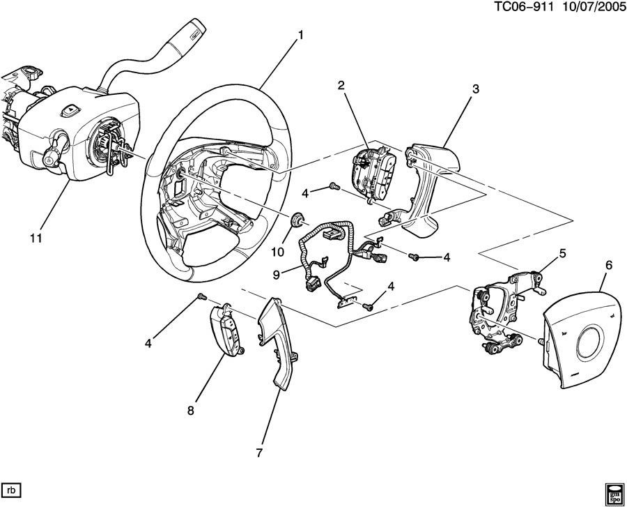 2009 2014 chevy traverse driver airbag titanium grey new oem rh factoryoemparts com Chevy Wiper Motor Wiring Diagram 2003 Chevy Silverado Radio Wiring Diagram