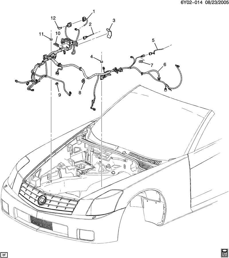 2009 Cadillac Xlr Front Headl Signal L Wiring Harness Export 25901079: Cadillac Xlr 2009 Radio Wiring Diagrams At Freddryer.co