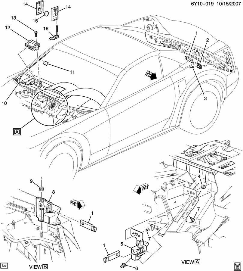 2008 2009 european corvette c6 xlr keyless entry receiver 433mhz rh factoryoemparts com 1985 Corvette ECM Wiring Diagram C5 Corvette Parts Diagram