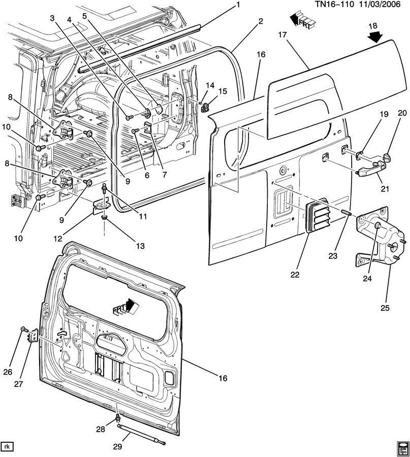 Hummer H Weatherstrip Upper Window Channel Rear Door on 85 corvette weatherstrip diagram