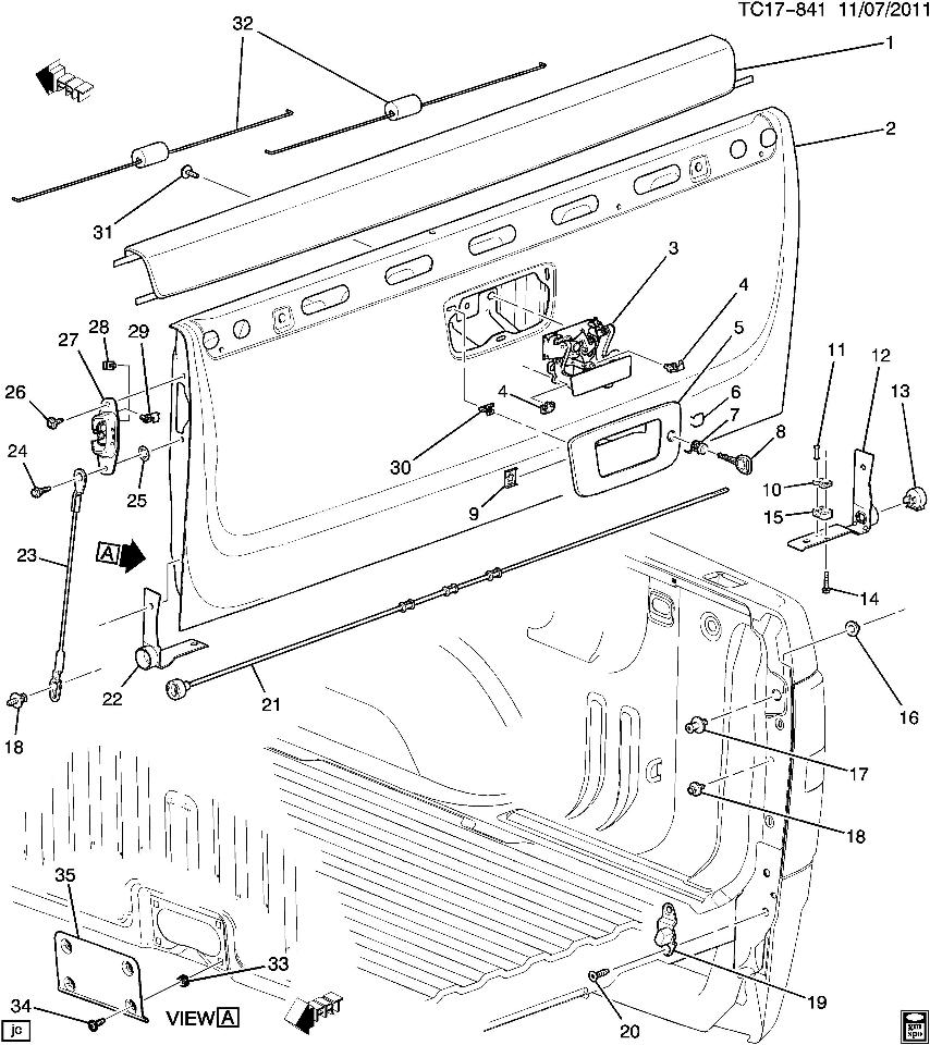 Chevy Tailgate Parts Diagram Schematic Diagrams 2014 Gmc Sierra Diy Enthusiasts Wiring 2015 Silverado 2007