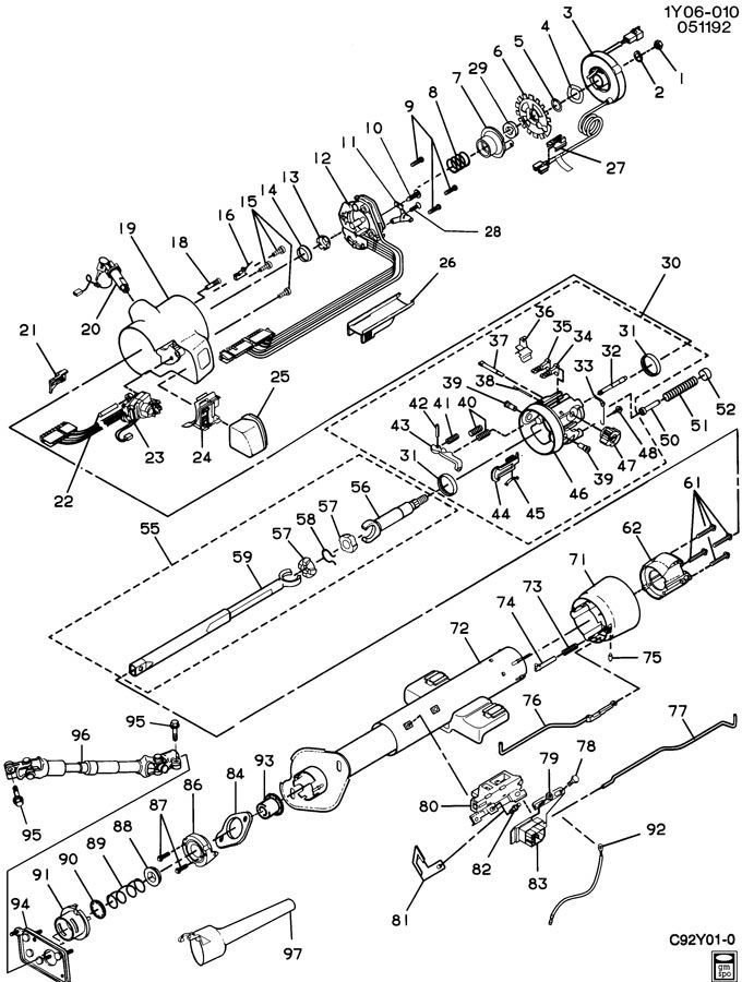 1992 Corvette Wiring Diagram Additionally Chevy Truck Steering