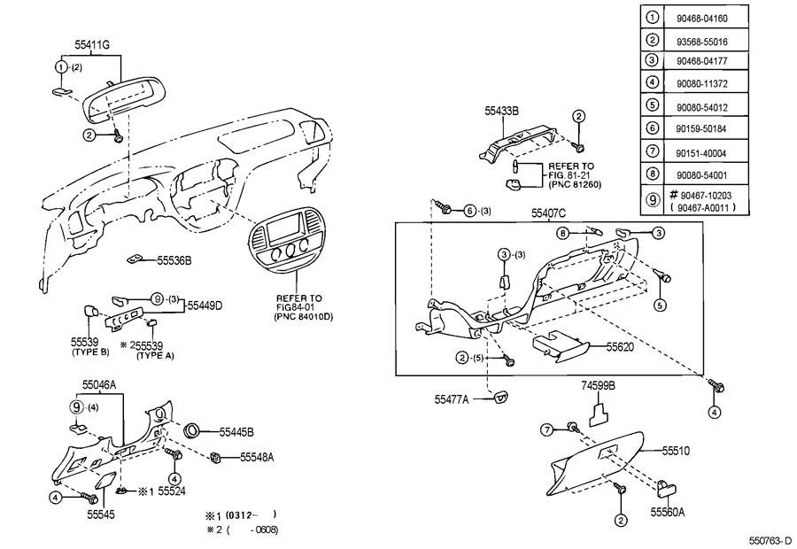 2005 2007 toyota sequoia dash switch base trim new. Black Bedroom Furniture Sets. Home Design Ideas