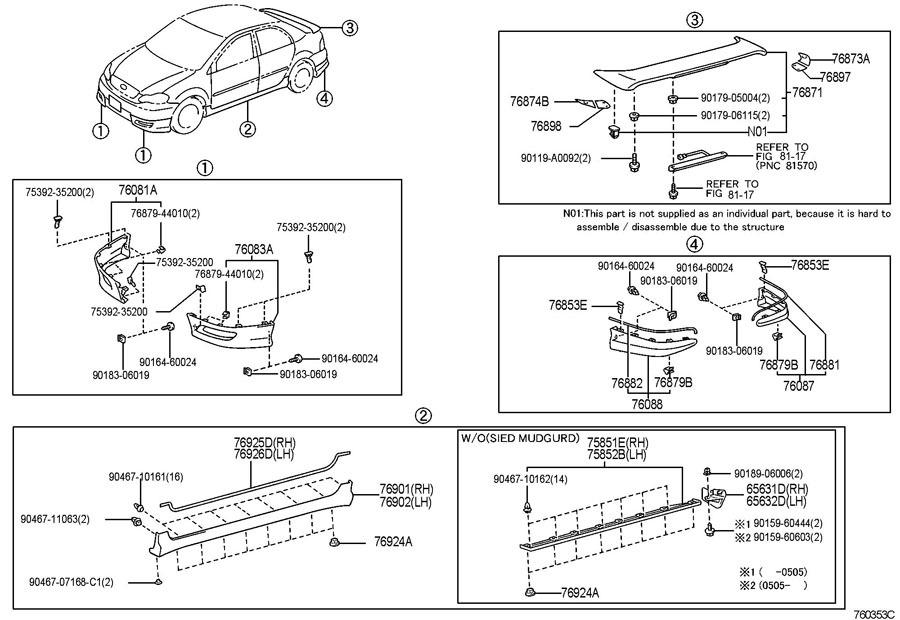 Schematic For 2003 Toyota Corolla Rear Bumper - wiring diagrams ...