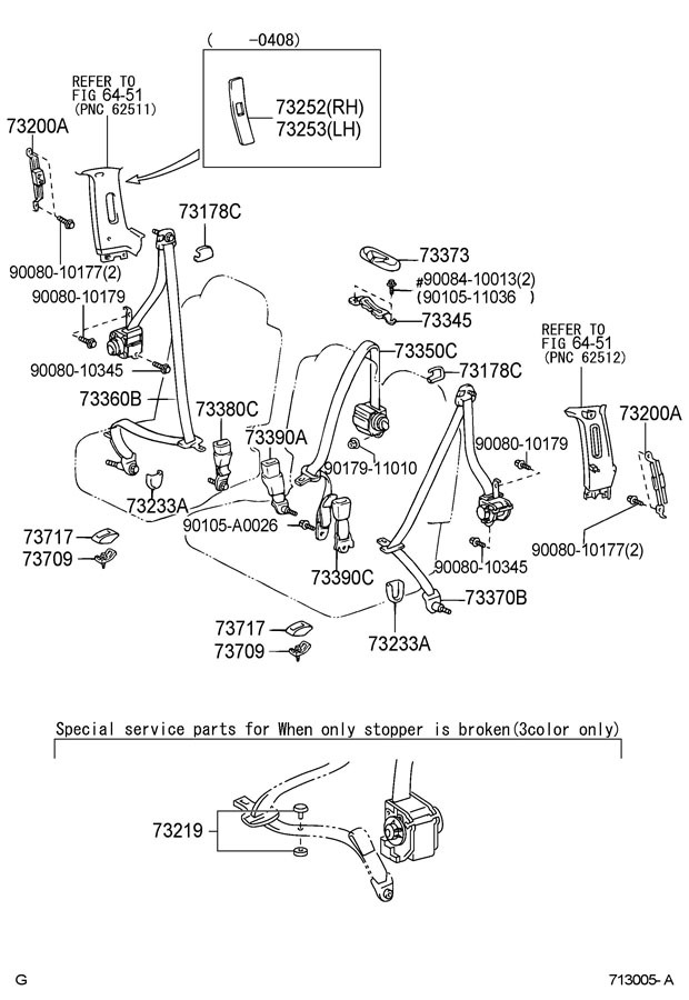 2004 toyota tundra door parts diagram