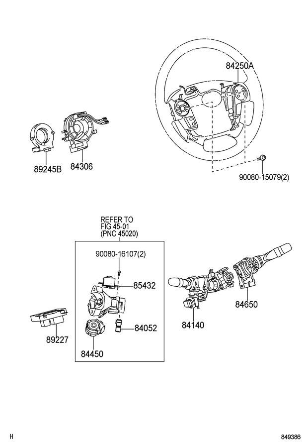 2008 2011 Toyota Sequoia Steering Wheel Switches New Black Oem