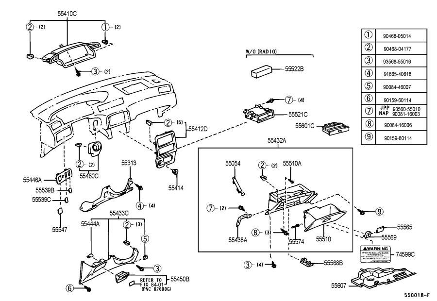 1999 2003 Toyota Solara Amp Camry Clips Qty 4 Interior Dash