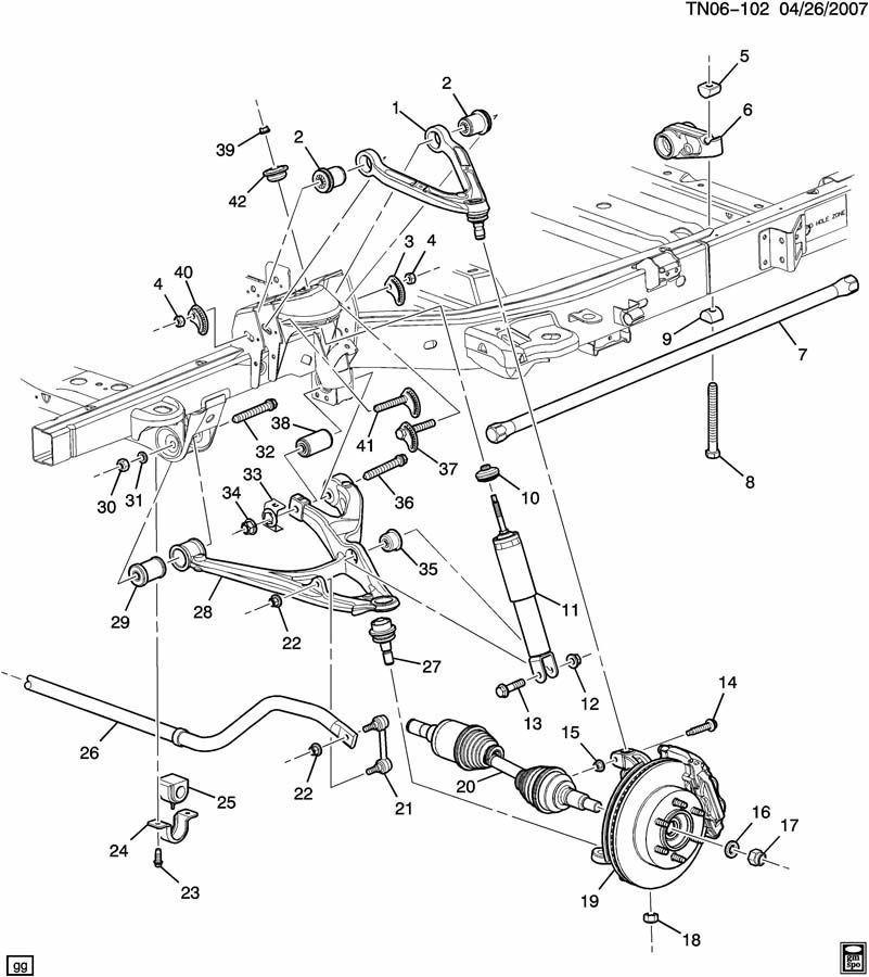 09 10 Hummer H3t Rh Front Suspension Torsion Bar 93357120