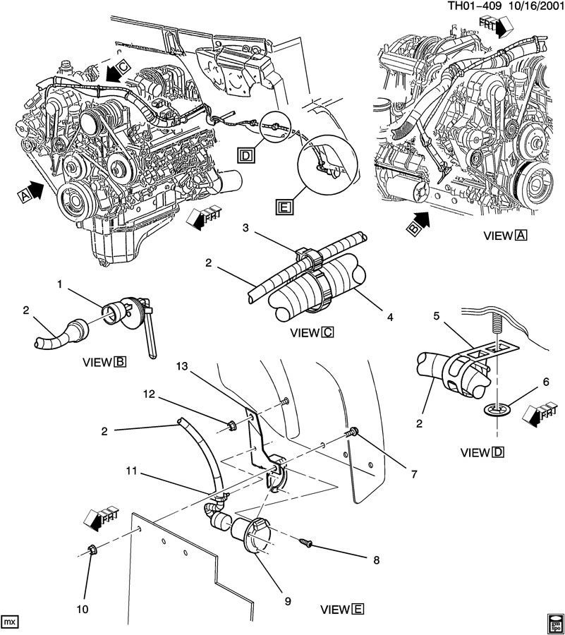 chevy c4500 parts diagram 2004 chevy cavalier parts diagram 04-09 topkick/kodiak c4500 engine coolant heater wire ...