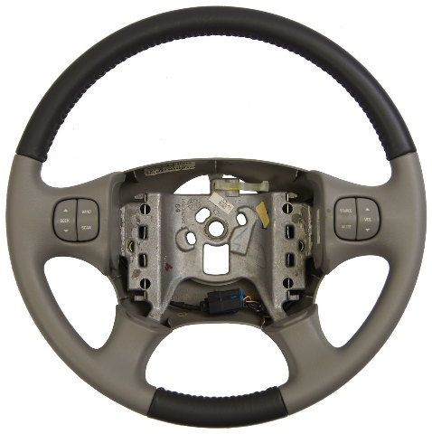 Buick Rendezvous Steering Wheel Two Tone Grey Leather W Audio Switches on 1999 Buick Lesabre Owners Manual
