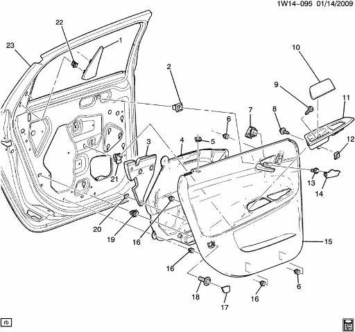 2006 2014 Chevrolet Impala Rear Rh Door Handle Insert Rubber Black New 10352912 Ebay