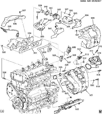 2007 Chevrolet Equinox Motor Diagram