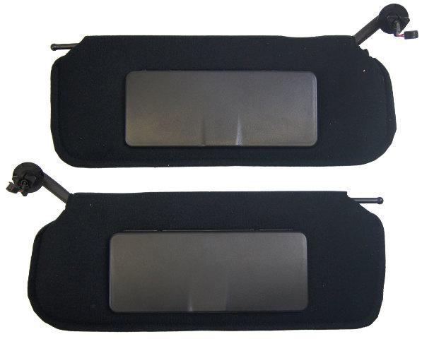 1997-2004 Chevrolet Corvette C5 Sunvisors Pair Left  Right Black W/Vanity Mirror