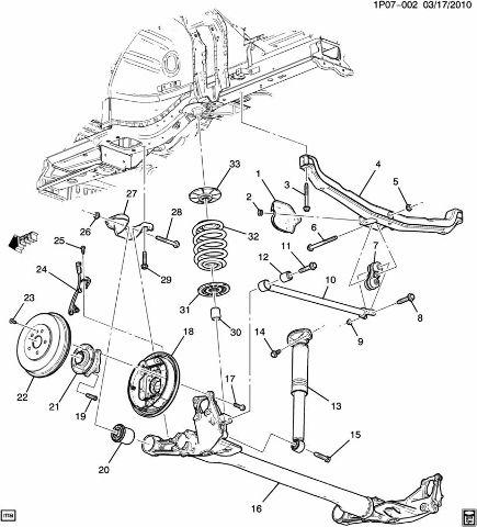 2011 2016 Chevy Cruze Volt Rear Right Rh Suspension Bracket New Oem
