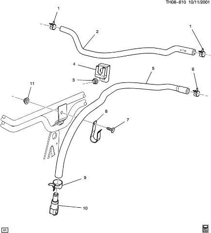 wiring diagrams, 2003-09 topkick/kodiak c6500-c8500 heater hose outlet  black rubber on 1999