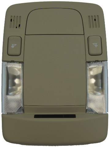 2006-2011 Cadillac DTS Overhead Console Dome Light Shale New OEM 15291501