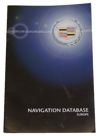 Cadillac Navigation System Map Database Booklet For Europe New In English on 2007 Gmc Acadia Power Steering Pump