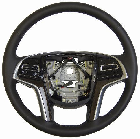 2013 2014 cadillac xts steering wheel black leather w. Black Bedroom Furniture Sets. Home Design Ideas