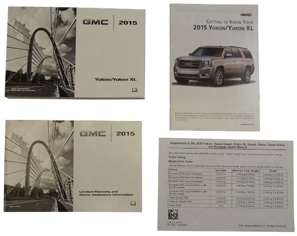 2015 gmc yukon yukon xl us owners manual book w warranty book new rh ebay com gmc yukon owner's manual 2015 gmc yukon owners manual 2015