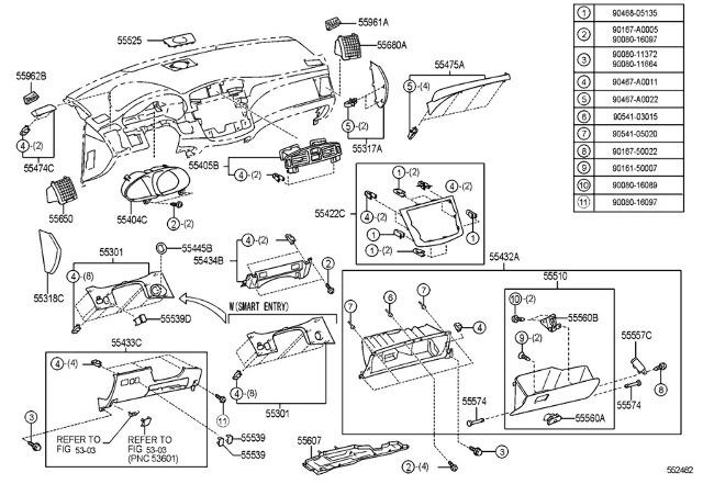 05 10 toyota avalon xls limited rh dash trim panel brown woodgrain rh ebay com 2005 Toyota Avalon Engine Diagram 2000 Toyota Avalon Engine Diagram