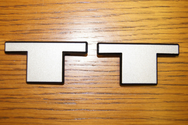 twin turbo tt emblem badge logo factory oem parts. Black Bedroom Furniture Sets. Home Design Ideas