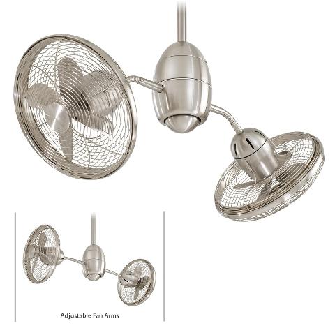 with blades fans lights double headed matthews motors dual caged ceiling ceilings motor twin fan