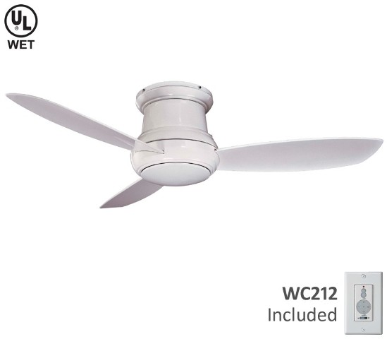 Minka aire concept ii wet led 52 ceiling fan brushed nickel wet click thumbnails to enlarge aloadofball Images