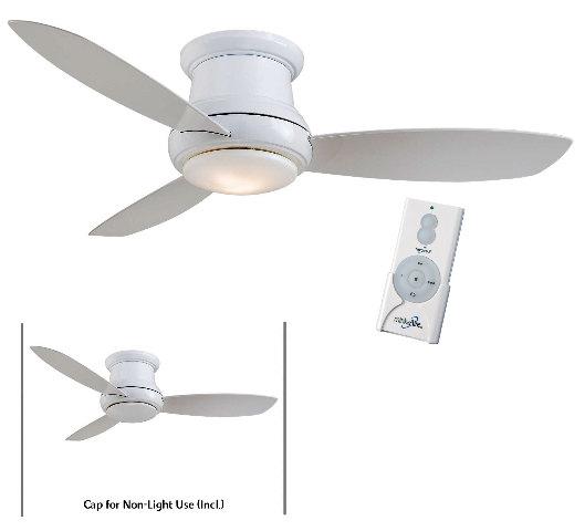 """Minka Aire F519L WH White Concept II 52"""" Ceiling Fan w Remote"""