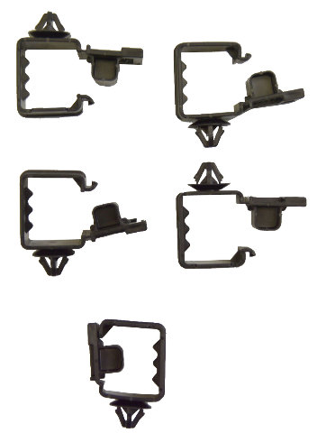 Automotive C-Clips Pack Of 5 New Wire Loom Holders | Factory OEM Parts