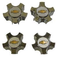 """2005-11 Malibu HHR Cobalt Wheel Center Hub Caps QTY4 5 Spoke 15"""" Chrome 09596906"""