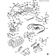 1990-1995 Chevy Corvette ZR1 LT5 Air Horn To Throttle Body Bolt 10110934