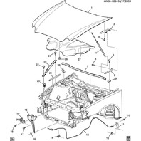 2004-14 LaCrosse/Impala/Monte Carlo/Grand Prix Hood Latch Release Cable 10311086