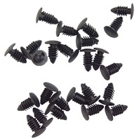 GM Automotive Push Pin Retainer Clips Black New 25 Pcs 8MM