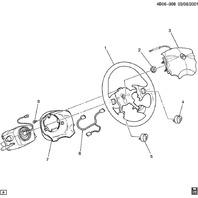 2002-2004 Buick Rendevous Audio Control Switch RH Grey New OEM 12451284 01999350