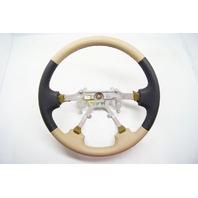 New 99-01 Isuzu VehiCROSS OEM Steering Wheel Tan Black Leather