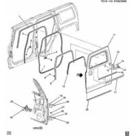 2006-2010 Hummer H3 Left Front Door Lock Cylinder Gasket Grommet 15124658